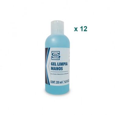 Gel Hidroalcohólico Higienizante Vital Cure, Caja 12 x 200 ml.