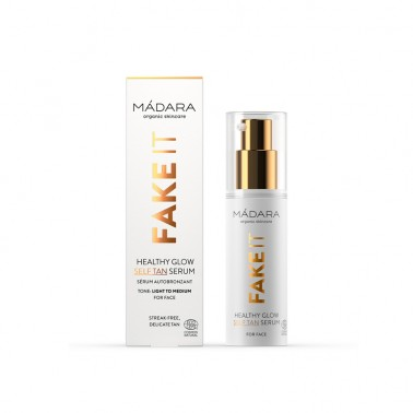 Fake It Sérum Facial Autobronceador Madara, 30 ml.