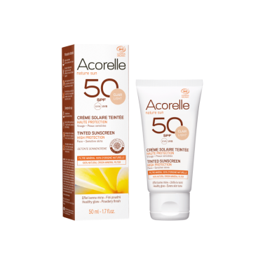 Crema facial Color light SPF50 Bio Acorelle, 50 ml.