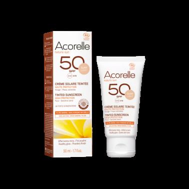 Crema facial Color light SPF50 Bio Acorelle, 50 ml.