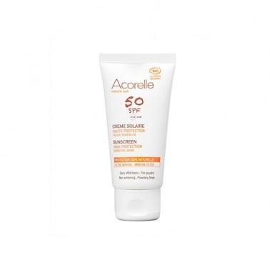 Crema Solar Facial SPF50 Bio Acorelle, 50 ml.