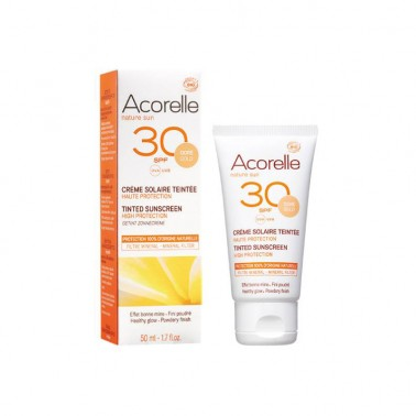 Crema facial Color GOLD SPF30 Bio Acorelle, 50 ml.