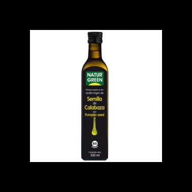 Aceite de Calabaza 1a presión en frío NaturGreen Bio, 500 ml.