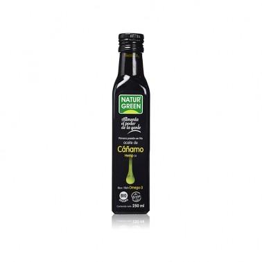 Aceite de Cáñamo 1a presión en frío NaturGreen Bio, 250 ml.