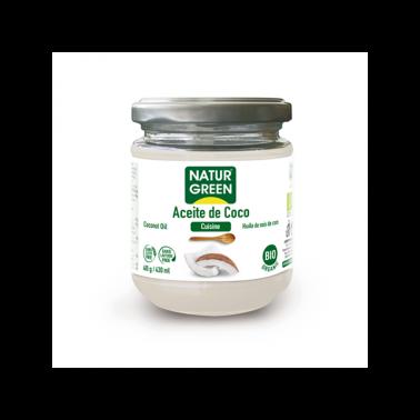 Aceite de Coco Cuisine NaturGreen Bio, 400 gr.