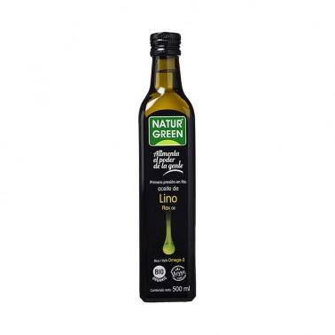 Aceite de Lino 1a presión en frío NaturGreen Bio, 500 ml.