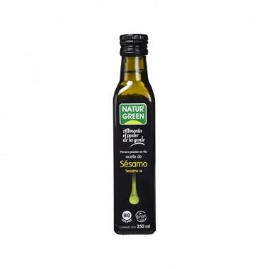 Aceite de Sesamo 1a presión en frío NaturGreen Bio, 250 ml.
