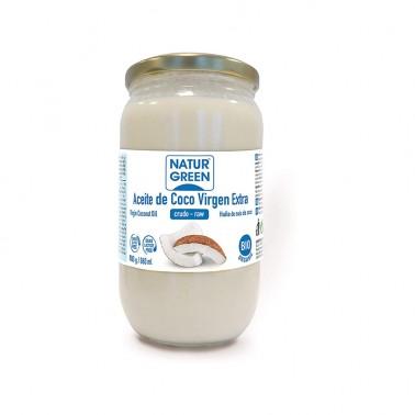Aceite Virgen de Coco 1ª presión frío NaturGreen Bio, 800 gr.
