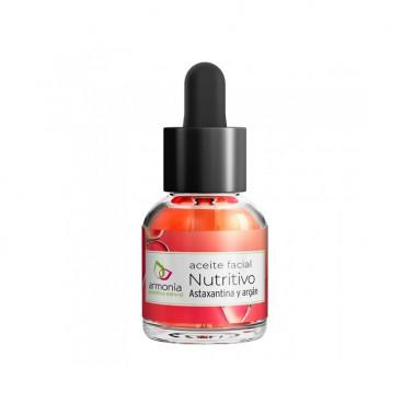 Aceite Facial Nutritivo con Astaxantina y Argan Armonia, 15 ml.
