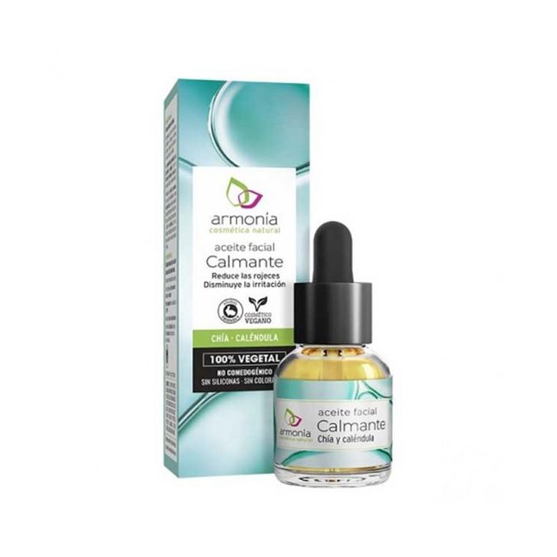 Aceite Facial Calmante con Chía y Caléndula Armonia, 15 ml.