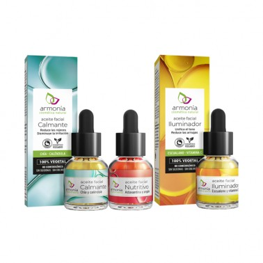 Aceite Facial Iluminador con Escualano y Vitamina C Armonia, 15 ml.