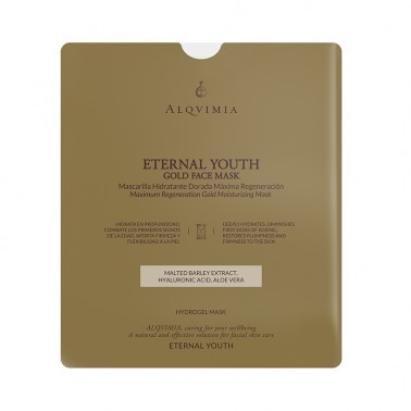 Mascarilla Eternal Youth Facial Oro Alqvimia, 1 unidad