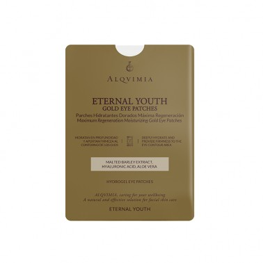 Mascarilla Eternal Youth Gold Eyes Patches Alqvimia, 1 unidad