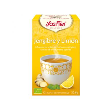 Jengibre y Limón Yogi Tea, 17 bolsitas