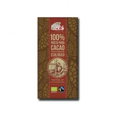 Chocolate Negro 100% Chocolates Solé, 100 gr.