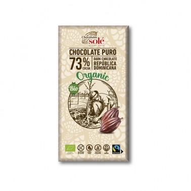Chocolate Negro 73% Chocolates Solé, 100 gr.