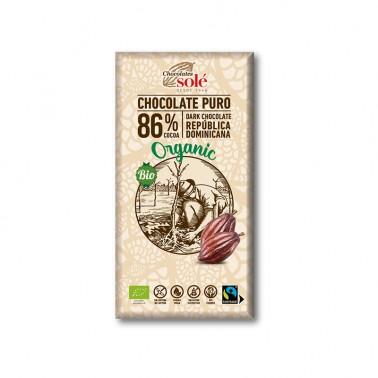 Chocolate Negro 86% Chocolates Solé, 100 gr.