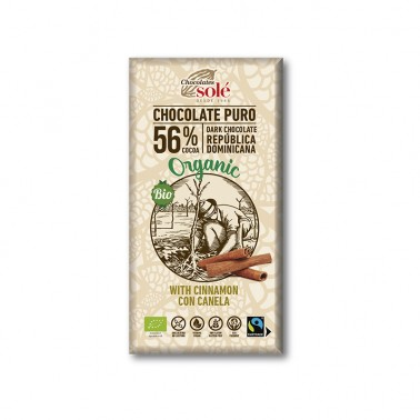 Chocolate Negro con Canela Chocolates Solé, 100 gr.
