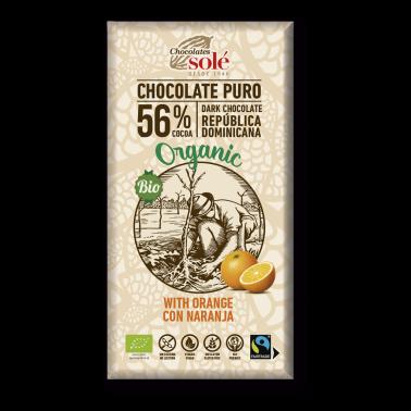 Chocolate Negro con Naranja Chocolates Solé, 100 gr.