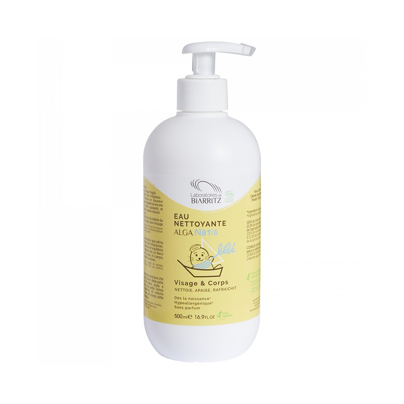 Agua limpiadora Bebé Alga Natis, 500 ml.