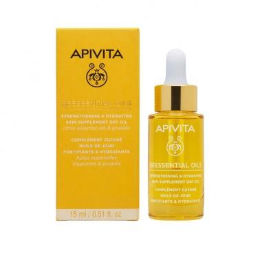 APIVITA Beessential Oils Aceite de Día - Suplemento para la Piel Refuerza e Hidrata, 15 ml.