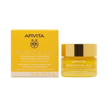 APIVITA Beessential Oils Bálsamo de Noche - Suplemento para la Piel Refuerza y Nutre, 15 ml.
