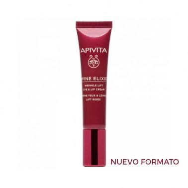 APIVITA Wine Elixir Crema antiarrugas para el contorno de ojos y labios con efecto lifting , 15 ml.