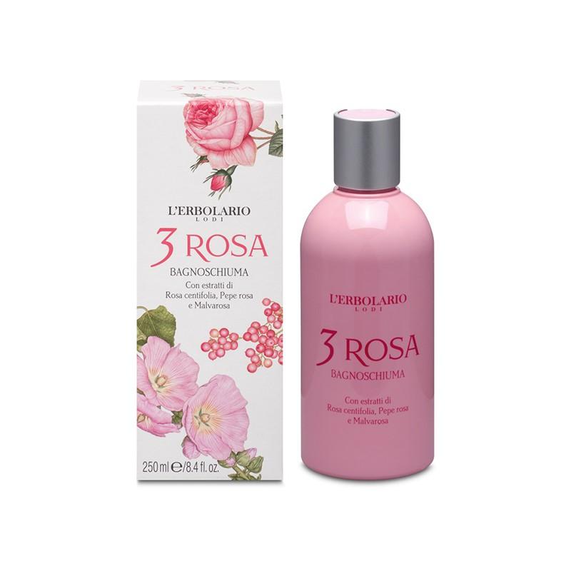 3 Rosas Gel de Baño L´Erbolario, 250 ml.