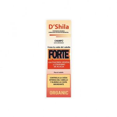 SHILA Champú Forte con Placenta Vegetal y Colágeno Anticaída, 125 ml.