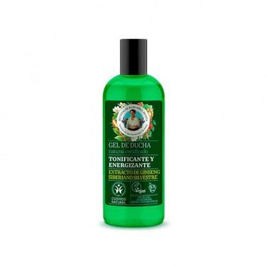 Gel de Ducha Energizante y Tonificante Vegan Green Agafia, 260 ml.