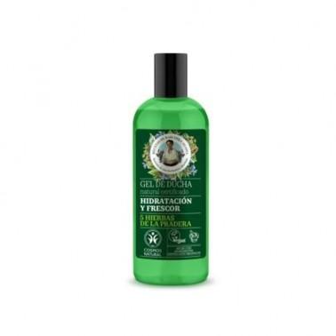 Gel de Ducha Hidratante y Refrescante Vegan Green Agafia, 260 ml.