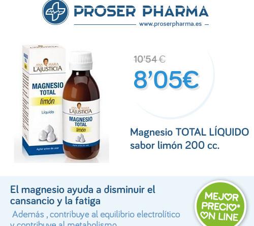 Magnesio TOTAL LÍQUIDO sabor limón 200 cc.