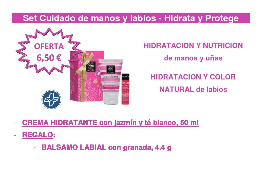 APIVITA Set cuidado de manos y labios – Hidrata y protege